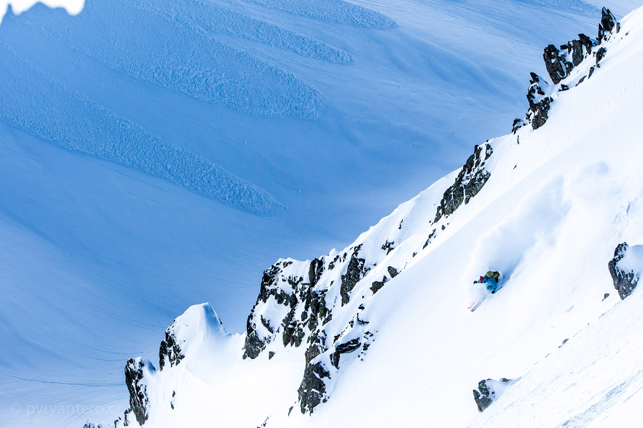 Skiing the Alps with Volkl skies, Chamonix, Mont Blanc, France, © Pyry Antero Photography, Pyry Pietiläinen